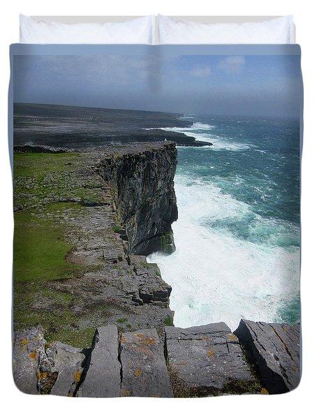 Cliffs Of The Aran Islands 5 Duvet Cover by Crystal Rosene