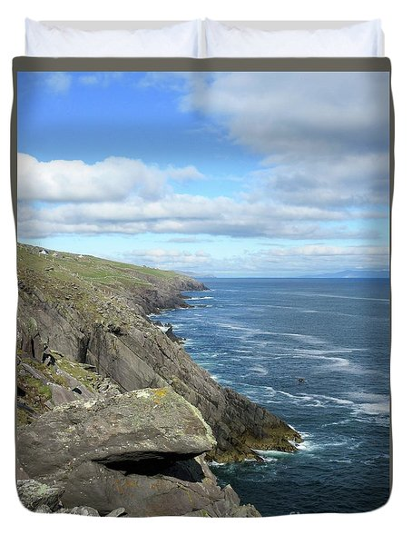Cliffs Of The Aran Islands Duvet Cover