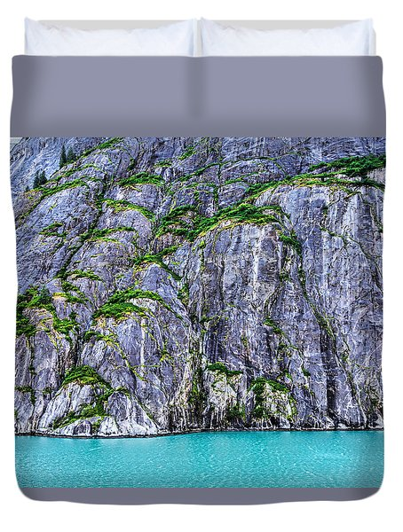 Duvet Cover featuring the photograph Cliffs Of The Inside Passage by Lewis Mann
