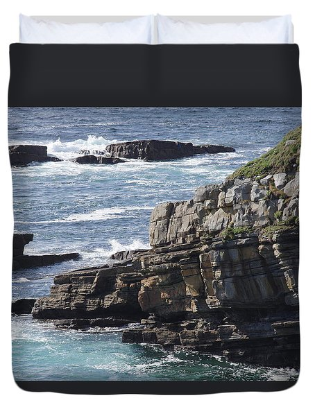 Cliffs Overlooking Donegal Bay Duvet Cover by Greg Graham