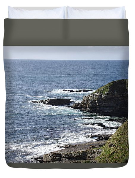 Cliffs Overlooking Donegal Bay II Duvet Cover by Greg Graham
