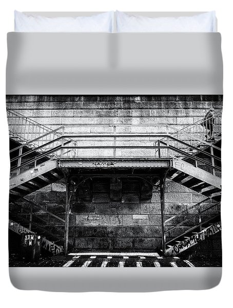 Climb The Stairs Duvet Cover by M G Whittingham