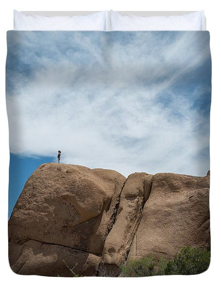 Climbing To The Top  Duvet Cover