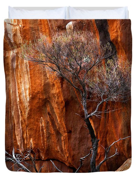 Clinging To Life Duvet Cover by Mike  Dawson