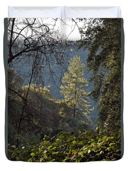 Clinging To The Canyon Duvet Cover by Michele Myers