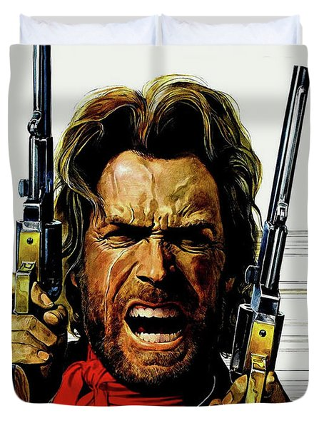 Clint Eastwood As Josey Wales Duvet Cover
