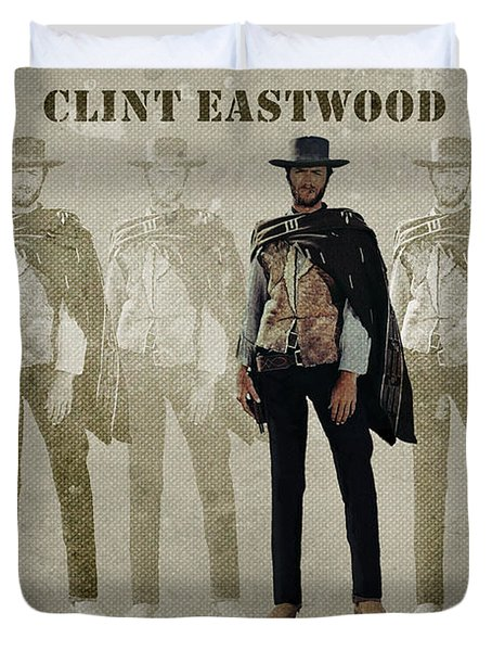 Clint Eastwood - American Icon Duvet Cover