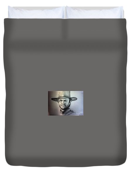 Clint Eastwood Portrait  Duvet Cover