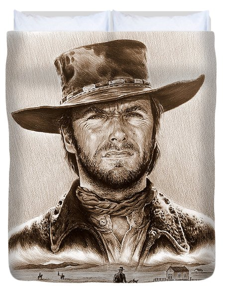 Clint Eastwood The Stranger Duvet Cover