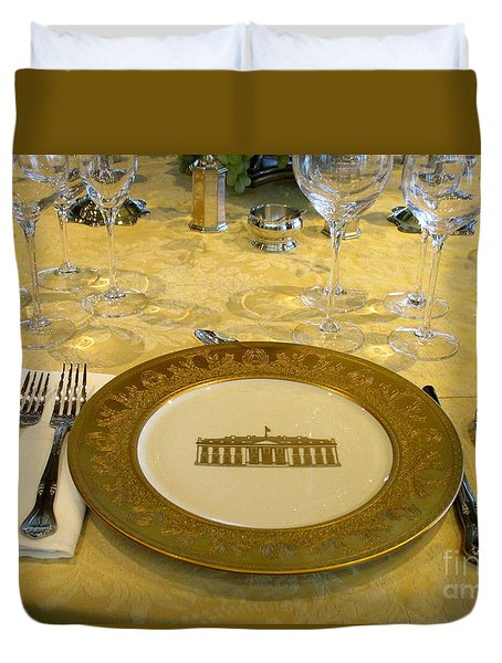 Clinton State Dinner 2 Duvet Cover by Randall Weidner