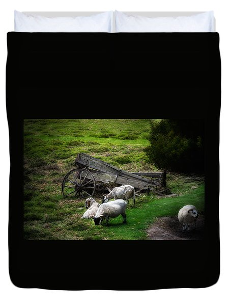 Clint's Sheep  Duvet Cover by Patrick Boening