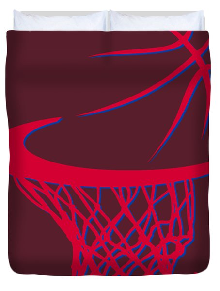 Clippers Basketball Hoop Duvet Cover