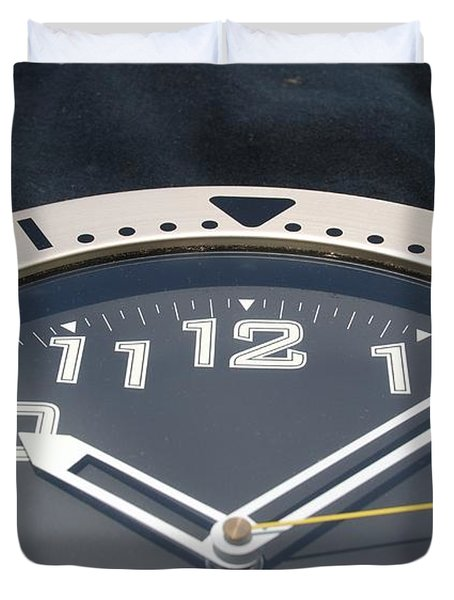 Clock Face Duvet Cover by Rob Hans