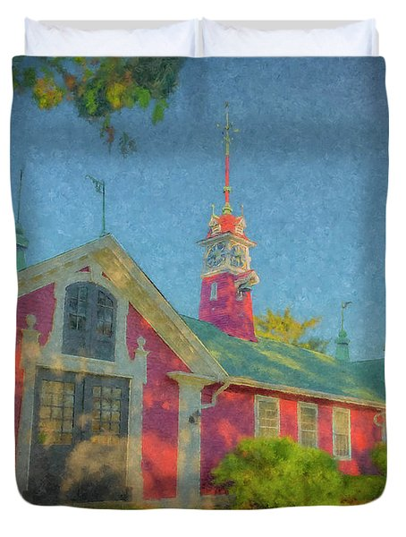 David Ames Clock Farm Duvet Cover