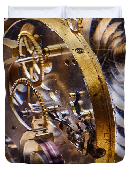 Clock Gears Duvet Cover