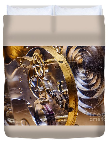 Clock Gears Duvet Cover