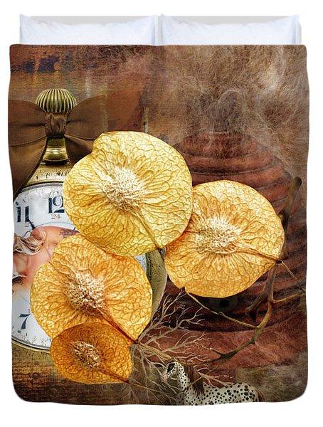 Clock Girl Duvet Cover