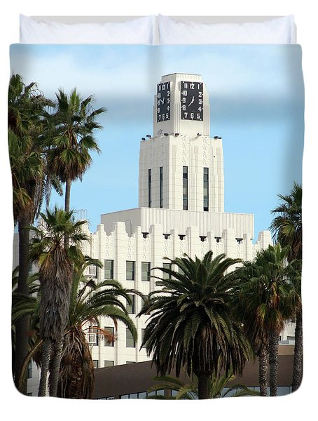 Clock Tower Building, Santa Monica Duvet Cover