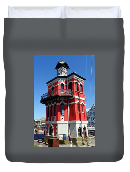 Clock Tower Cape Town Duvet Cover