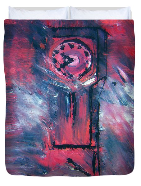 Clock Tower By Colleen Ranney Duvet Cover