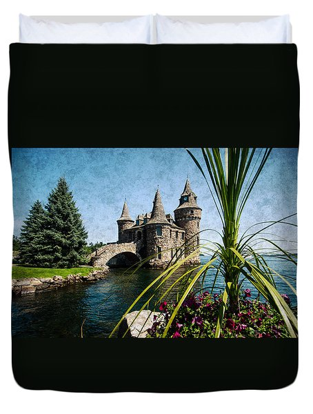 Boldt Castle Power House And Clock Tower Duvet Cover