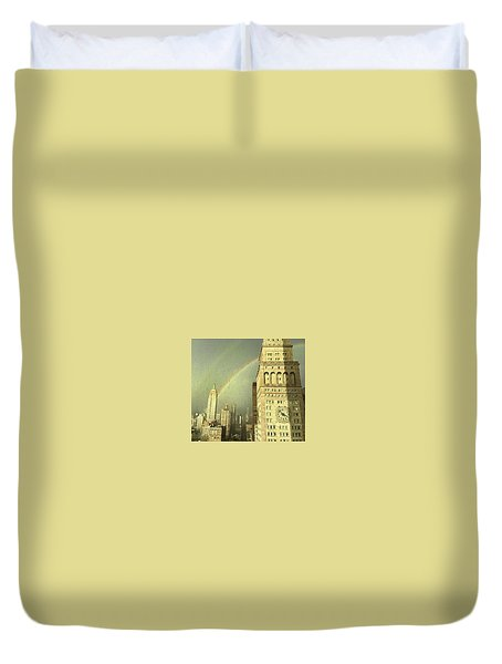 Clock Tower New York Duvet Cover