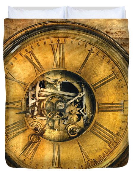 Clockmaker - Clock Works Duvet Cover by Mike Savad