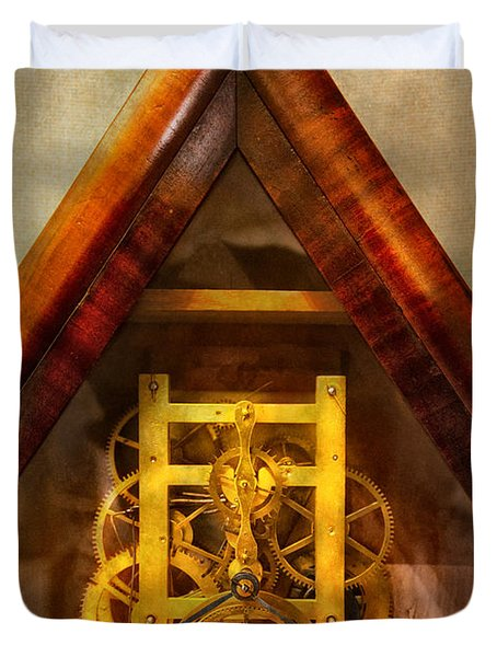 Clocksmith - Clockwork  Duvet Cover by Mike Savad