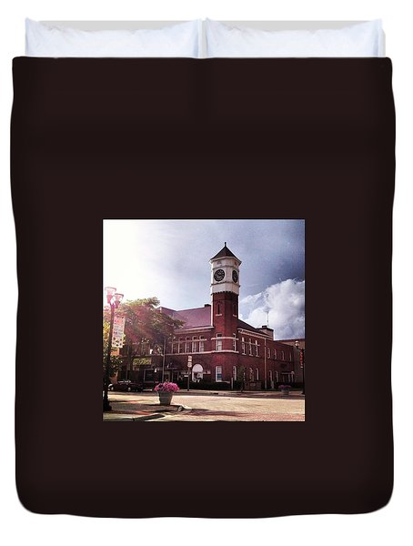 Clocktower Sunshine Duvet Cover