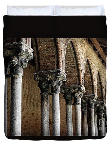 Duvet Cover featuring the photograph Cloister Detail, Couvent Des Jacobins by Elena Elisseeva