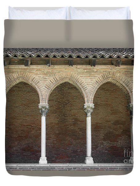 Duvet Cover featuring the photograph Cloister In Couvent Des Jacobins by Elena Elisseeva