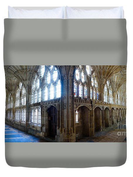 Cloisters, Gloucester Cathedral Duvet Cover
