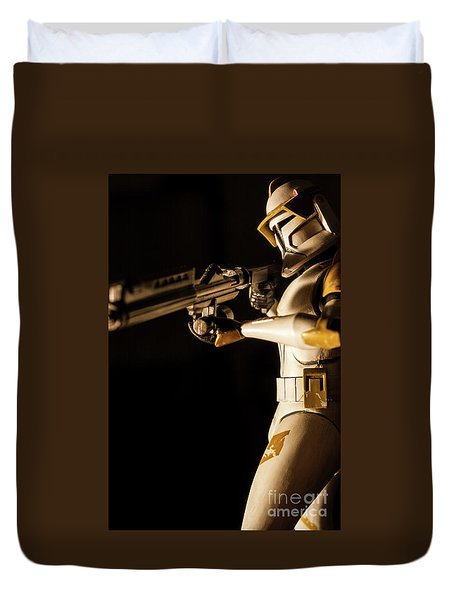 Duvet Cover featuring the photograph Clone Trooper 6  by Micah May