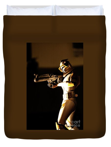 Duvet Cover featuring the photograph Clone Trooper 7 by Micah May