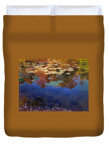 Close By The Lily Pond  Duvet Cover