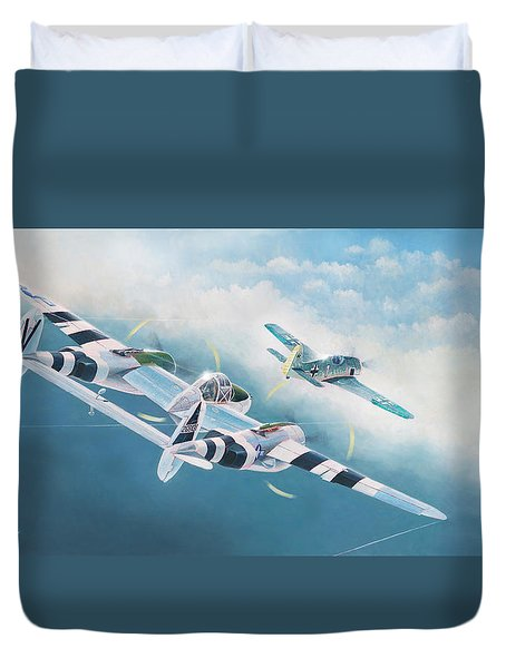 Close Encounter With A Focke-wulf Duvet Cover