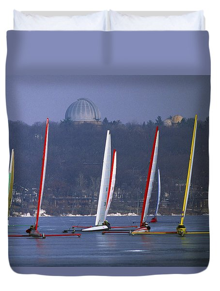 Close Encounters - Lake Geneva Wisconsin Duvet Cover