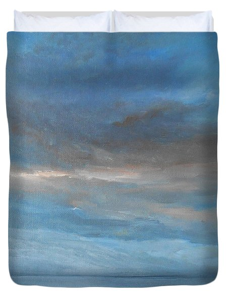 Duvet Cover featuring the painting Close Of Day by Jane See
