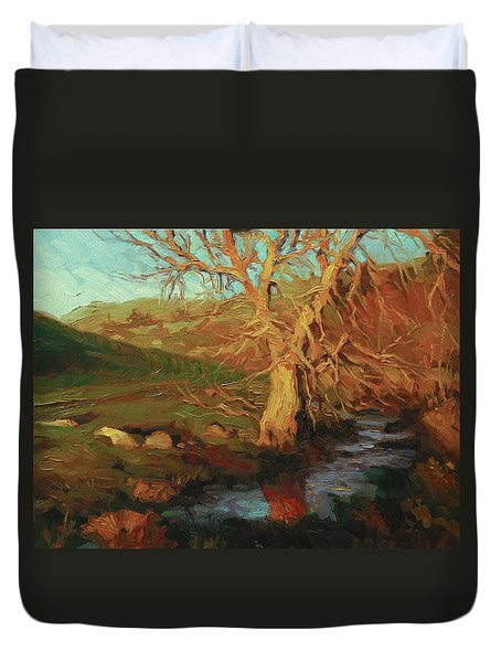 Close Of Day Duvet Cover