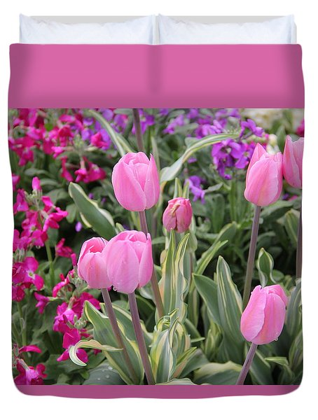 Close Up Mixed Planter Duvet Cover