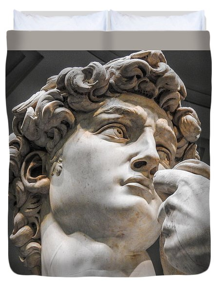 Close Up Of David By Michelangelo Duvet Cover