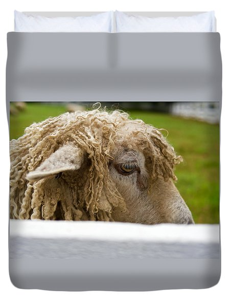 Close-up Of Leicester Longwool Duvet Cover