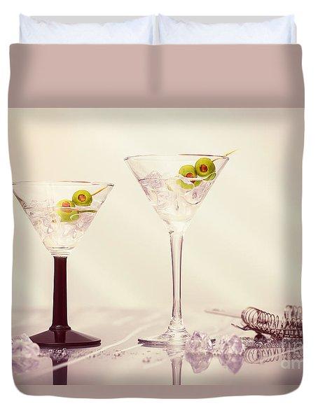 Close Up Of Martini Cocktails Duvet Cover