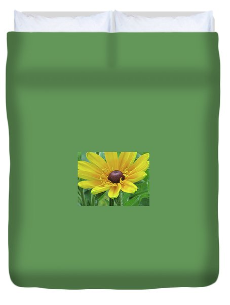 Close Up Summer Daisy Duvet Cover
