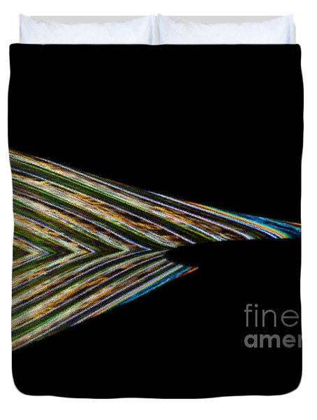 Duvet Cover featuring the digital art Closed Eye by Wendy Wilton