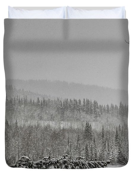 Closed For Winter Duvet Cover