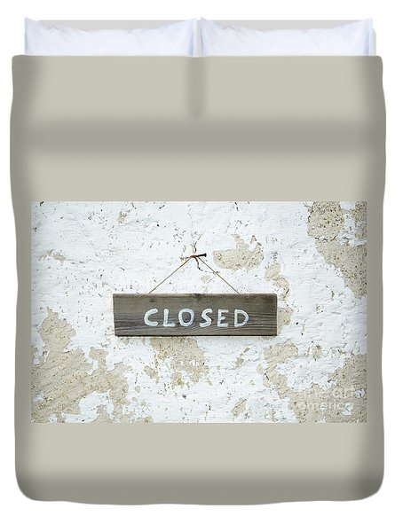 Duvet Cover featuring the photograph Closed by Kennerth and Birgitta Kullman