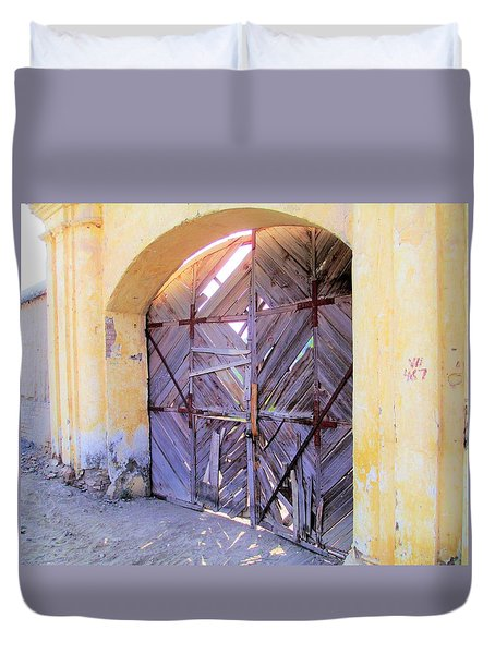 Closed, Permanently. Duvet Cover