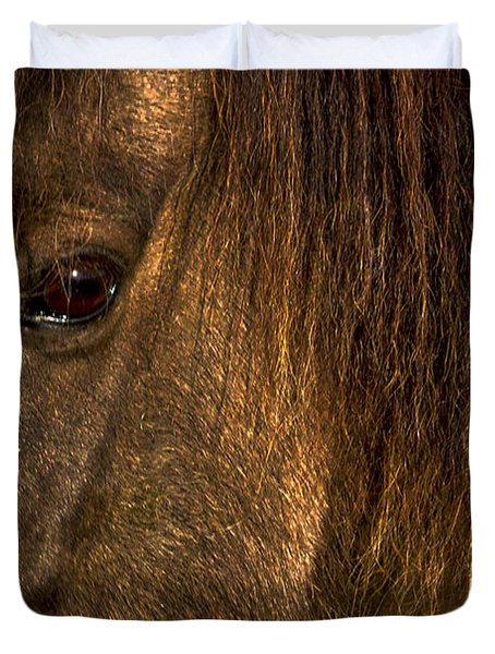Closeup Of An Icelandic Horse #2 Duvet Cover