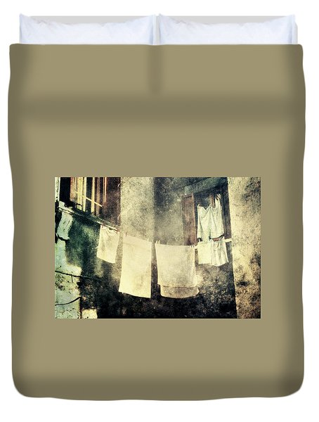 Clothes Hanging Duvet Cover